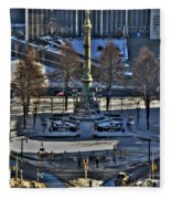 0037 Birdseye View Of Lafayette Square Fleece Blanket