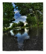 004 After The Rain At Hoyt Lake Fleece Blanket