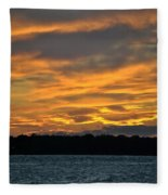 004 Awe In One Sunset Series At Erie Basin Marina Fleece Blanket
