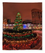 004 Christmas Light Show At Roswell Series Fleece Blanket