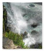 004 Niagara Falls Misty Blue Series Fleece Blanket