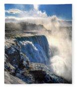 004 Niagara Falls Winter Wonderland Series Fleece Blanket