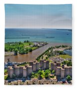 004 Visual Highs Of The Queen City Fleece Blanket