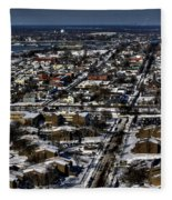 0042 After The Nov 2014 Storm Buffalo Ny Fleece Blanket