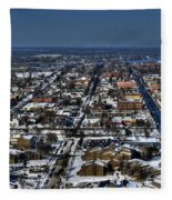 0043 After The Nov 2014 Storm Buffalo Ny Fleece Blanket