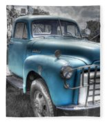 0043 Old Blue Fleece Blanket