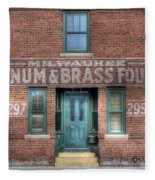 0044 Foundry Building Fleece Blanket