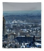 0045 After The Nov 2014 Storm Buffalo Ny Fleece Blanket