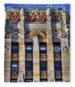 0049 Art Deco City Hall Fleece Blanket