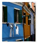 0049 Burano Colors 4 Fleece Blanket
