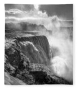 004a Niagara Falls Winter Wonderland Series Fleece Blanket