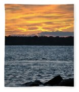 005 Awe In One Sunset Series At Erie Basin Marina Fleece Blanket