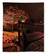 005 Christmas Light Show At Roswell Series Fleece Blanket