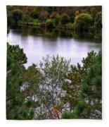 005 Hoyt Lake Autumn 2013 Fleece Blanket