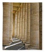 0056 Roman Pillars St. Peter's Basilica Rome Fleece Blanket