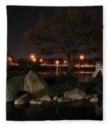 006 Japanese Garden Autumn Nights   Fleece Blanket