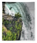 006 Niagara Falls Misty Blue Series Fleece Blanket