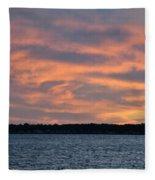 007 Awe In One Sunset Series At Erie Basin Marina Fleece Blanket