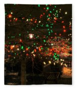 007 Christmas Light Show At Roswell Series Fleece Blanket
