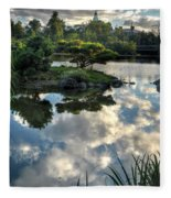 007 Delaware Park Japanese Garden Mirror Lake Series Fleece Blanket