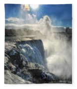 007 Niagara Falls Winter Wonderland Series Fleece Blanket