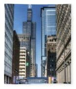 0078 Willis Tower Chicago Fleece Blanket