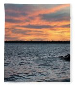 008 Awe In One Sunset Series At Erie Basin Marina Fleece Blanket