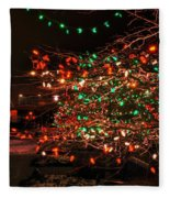 008 Christmas Light Show At Roswell Series Fleece Blanket