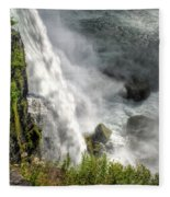 008 Niagara Falls Misty Blue Series Fleece Blanket