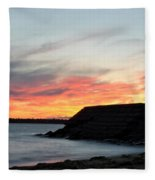 009 Awe In One Sunset Series At Erie Basin Marina Fleece Blanket