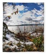 009 Grand Island Bridge Series Fleece Blanket