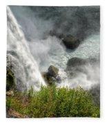 009 Niagara Falls Misty Blue Series Fleece Blanket