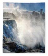 009 Niagara Falls Winter Wonderland Series Fleece Blanket