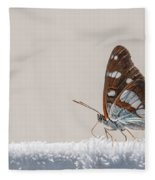 01 Southern White Admiral Butterfly Fleece Blanket