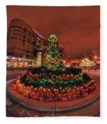 012 Christmas Light Show At Roswell Series Fleece Blanket