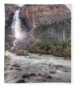 0163 Takakkaw Falls Fleece Blanket