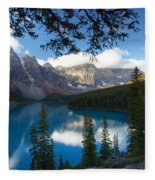 0164 Moraine Lake Fleece Blanket