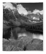0166 Moraine Lake Fleece Blanket