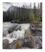 0182 Natural Bridge Waterfall Fleece Blanket