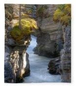 0191 Athabasca Canyon 2 Fleece Blanket