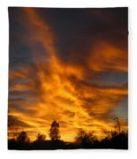 02 05 11 Sunset Two Fleece Blanket