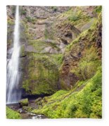 0237 Multnomah Falls Oregon Fleece Blanket