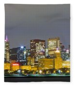 0247 Chicago Skyline Panoramic Fleece Blanket