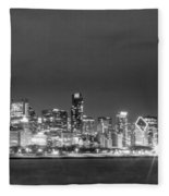 0248 Chicago Skyline Panoramic Fleece Blanket