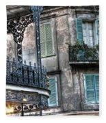 0275 New Orleans Balconies Fleece Blanket