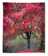 0277 Blazing Red Fleece Blanket