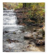 0278 South Elgin Waterfall Fleece Blanket