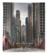 0295 Lasalle Street Chicago Fleece Blanket