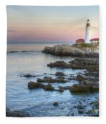 0312 Portland Head Lighthouse Fleece Blanket