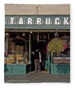0370 First Starbucks Fleece Blanket